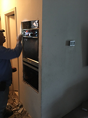 Cedar Hill, TX - Replacing 3 ton straight electric heating & cooling system with Trane 3 ton XR16 complete heatpump system.