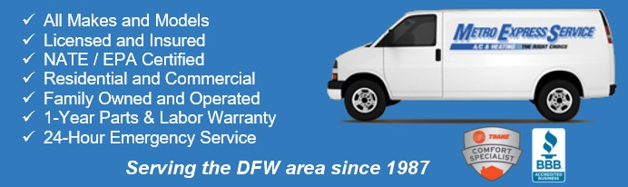 Emergency Heating and A/C Services in Arlington, Fort Worth and DFW